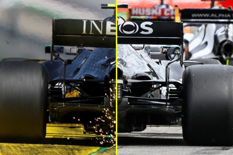 Mercedes W11: Vergleich Spielberg/Spa