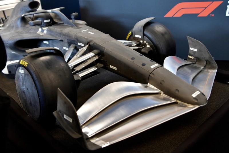 Modell eines F1-Boliden nach dem Reglement 2021