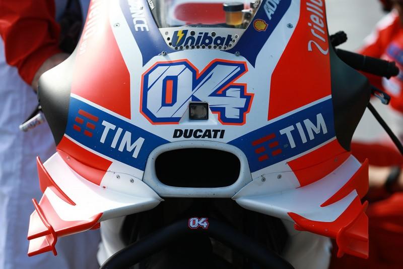 Winglets an der Ducati Desmosedici GP