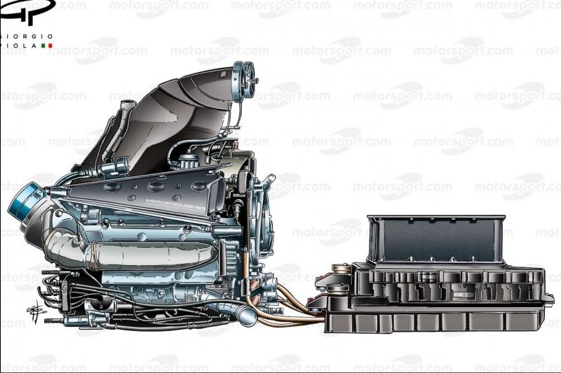 Mercedes PU106, Antriebseinheit, Motor, Power Unit