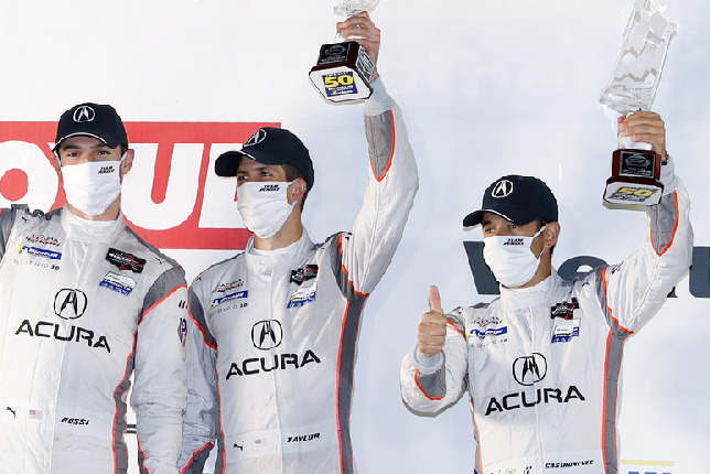 Alexander Rossi, Ricky Taylor, Helio Castroneves
