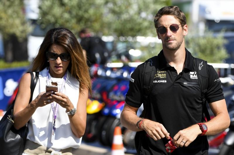 Romain Grosjean mit Ehefrau Marion