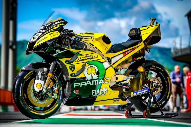 MotoGP-Bike von Pramac-Ducati mit Lamborghini-Design beim GP Italien 2019 in Mugello