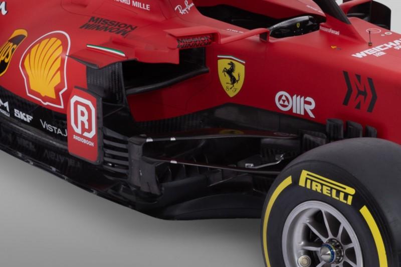 Ferrari SF21, Bargeboard, Seitenkasten