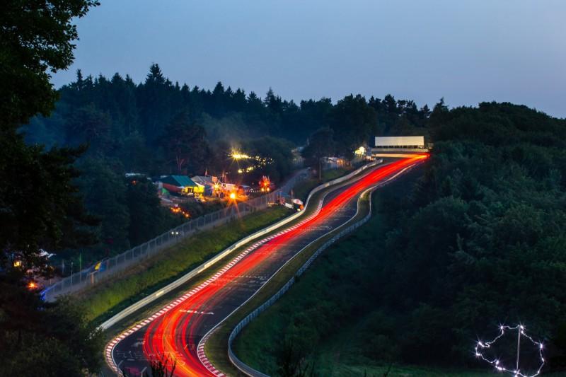 24h Nürburgring, Nordschleife, Atmosphäre Panorama, Karussell, Langzeitbelichtung, Fans, Zuschauer