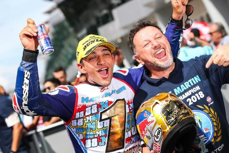 Moto3-Weltmeister 2018: Jorge Martin mit Fausto Gresini