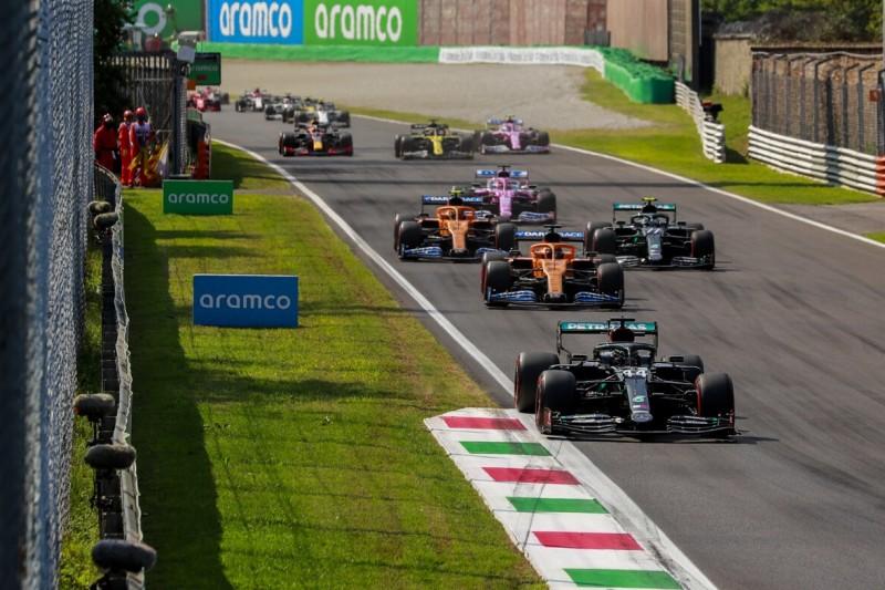 Lewis Hamilton, Carlos Sainz, Valtteri Bottas, Lando Norris, Sergio Perez