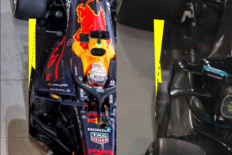 Red Bull RB16B, Mercedes W12, Unterboden