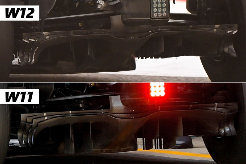 Mercedes W11 vs. W12, Diffusor