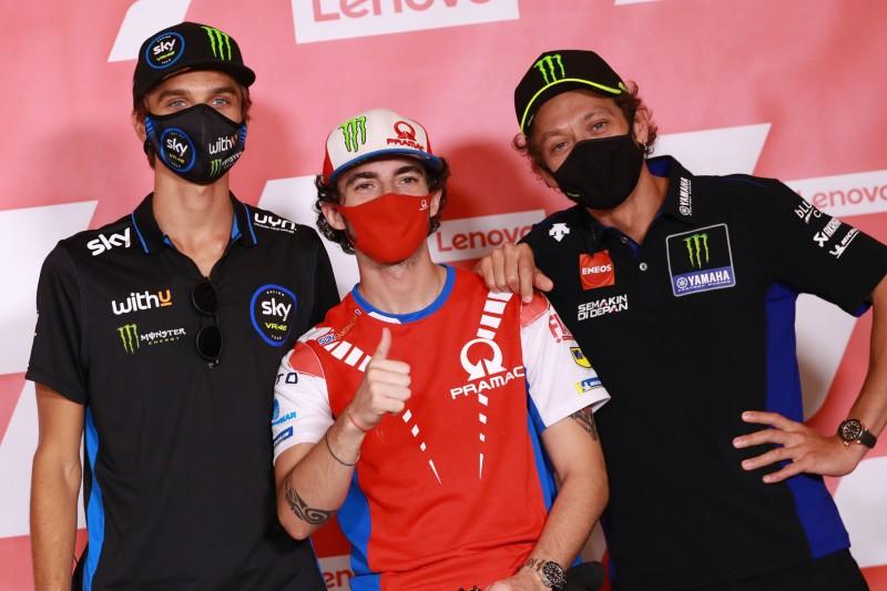Luca Marini, Francesco Bagnaia, Valentino Rossi