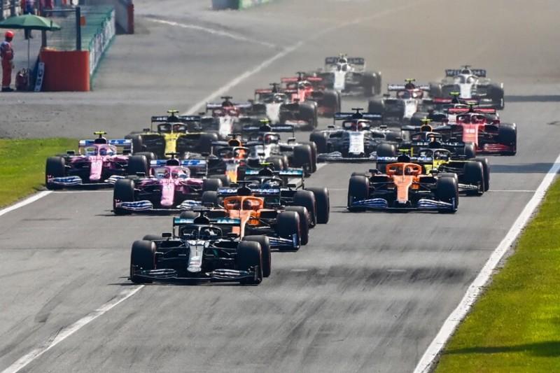 Lewis Hamilton, Carlos Sainz, Valtteri Bottas, Lando Norris