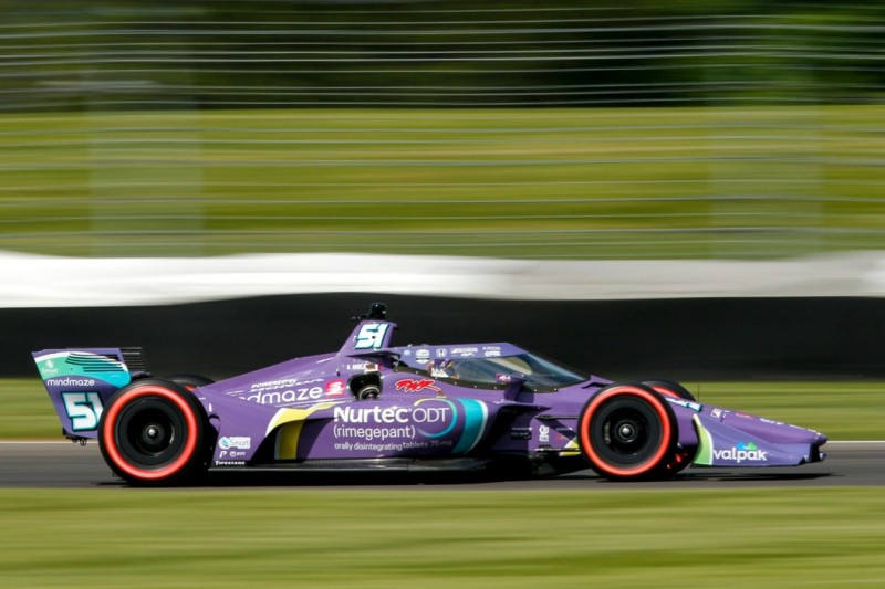 Romain Grosjean im Qualifying zum IndyGP in Indianapolis