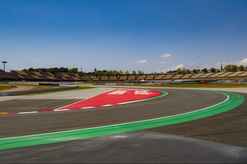 Alte und neue Kurve 10 am Circuit de Barcelona-Catalunya