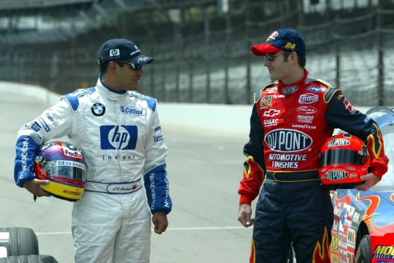 Juan Pablo Montoya, Jeff Gordon