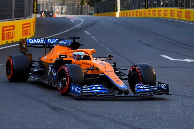 Daniel Ricciardo im McLaren MCL35M in Baku