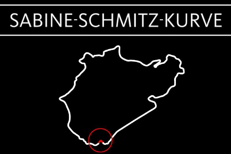 Karte der Nürburgring-Nordschleife mit der Sabine-Schmitz-Kurve