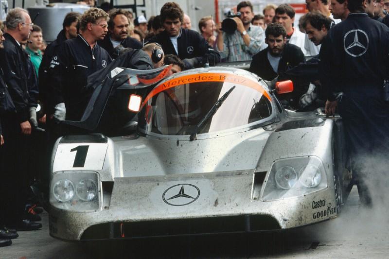 Jean-Louis Schlesser, Jochen Mass, Alain Ferté, Mercedes-Benz C11