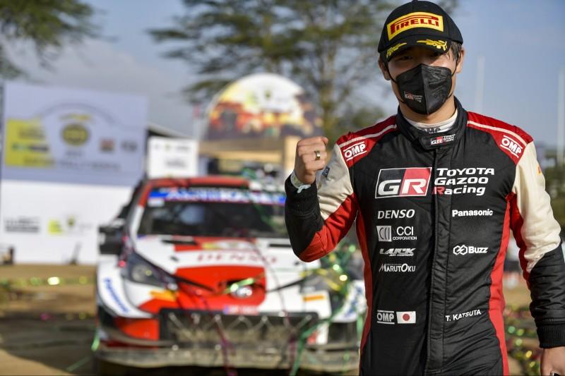 Takamoto Katsuta (Toyota) wurde Zweiter bei der Safari-Rallye 2021 in Kenia