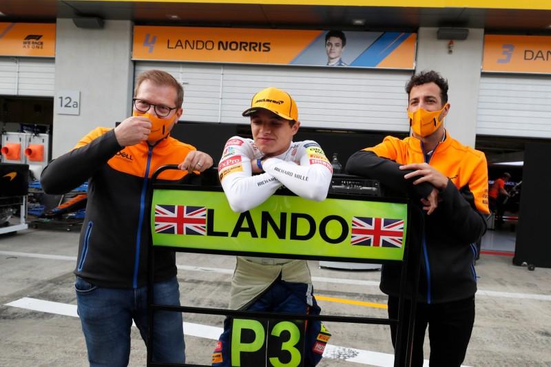 Andreas Seidl, Lando Norris, Daniel Ricciardo
