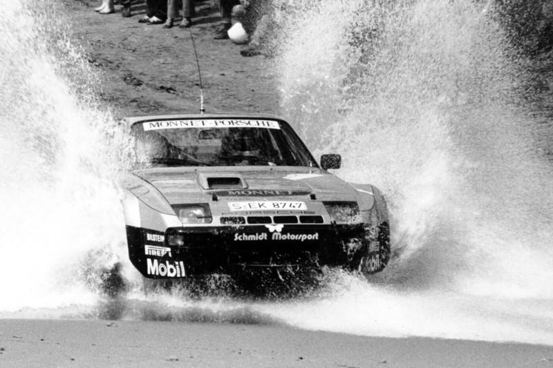 Walter Röhrl im Porsche 924 Carrera GTS Rallye bei der Metz-Rallye 1981