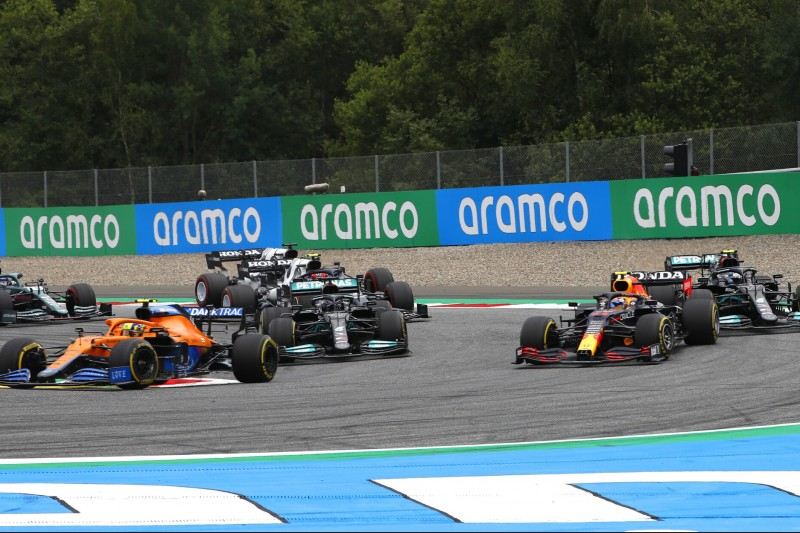 Lando Norris, Sergio Perez, Lewis Hamilton, Valtteri Bottas