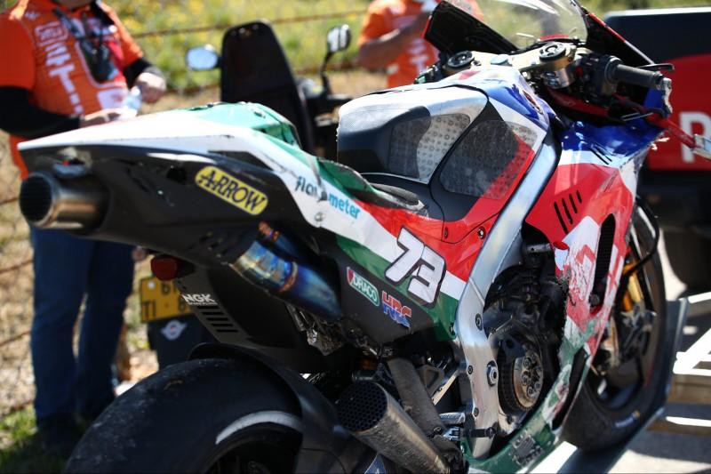 Bergung der LCR-Honda von Alex Marquez nach Sturz