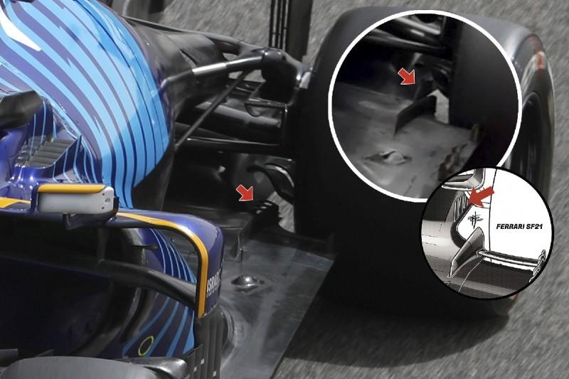 Williams Vergleich technik Aerodynamik Bremsschächte