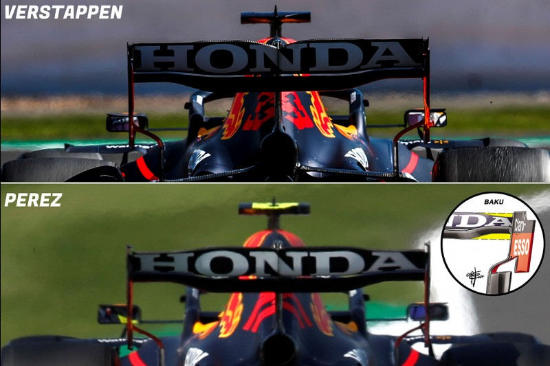 Die Mercedes-Heckflügel von Lewis Hamilton und Valtteri Bottas beim Formel-1-Rennen in Silverstone im Vergleich