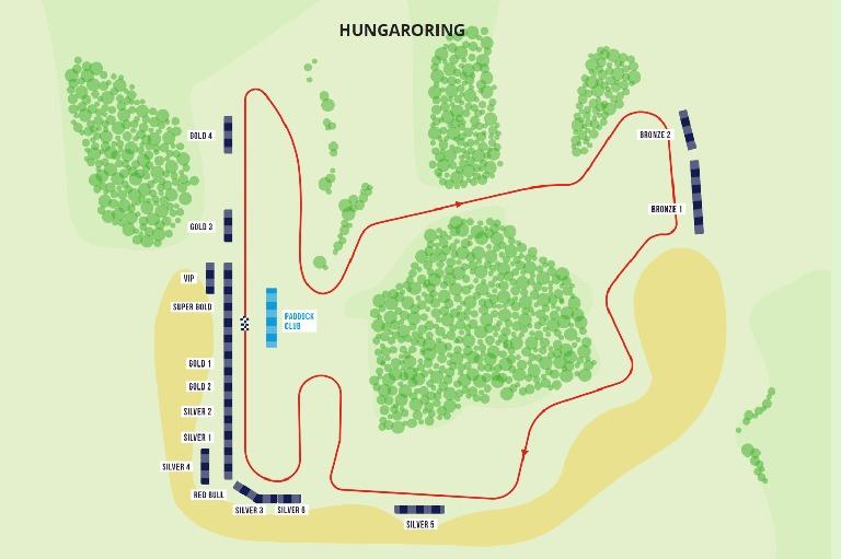 Verfügbare Tribünen für den Ungarn Grand Prix 2021