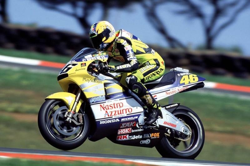 Valentino Rossi auf der Honda NSR500