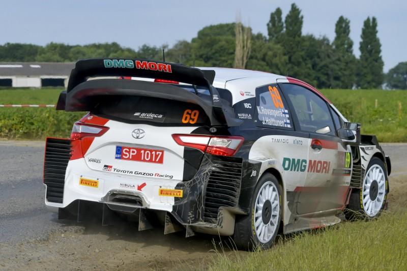Kalle Rovanperä im Toyota Yaris WRC bei der Rallye Ypern 2021