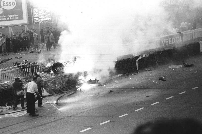 24h Le Mans 1955, Unfall, Crash, Tragödie, Feuer, Pierre Levegh