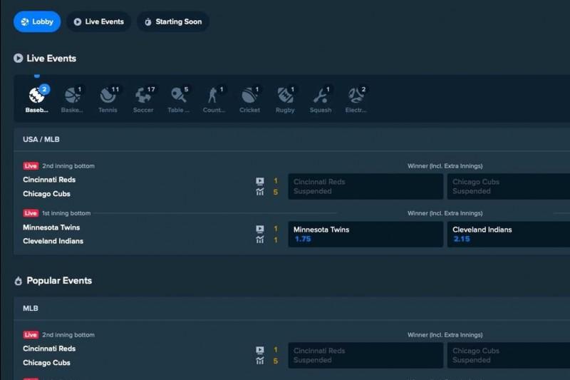 Screenshot von Stake.com