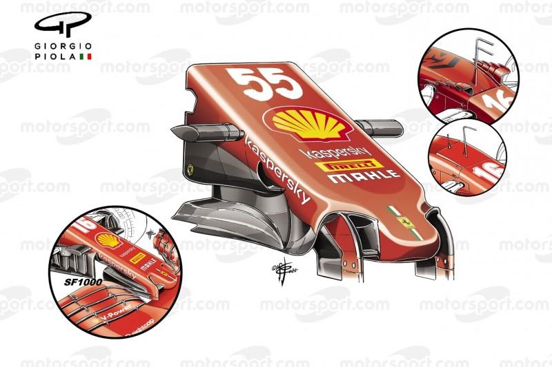 Ferrari-Nase am SF21 aus der Formel-1-Saison 2021