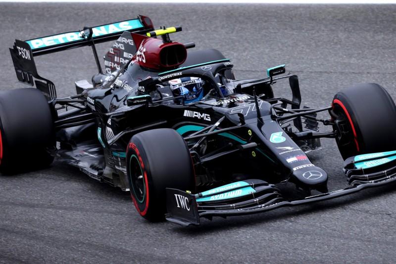 Valtteri Bottas im Mercedes W12 im Training zum Grand Prix von Italien der Formel 1 2021 in Monza