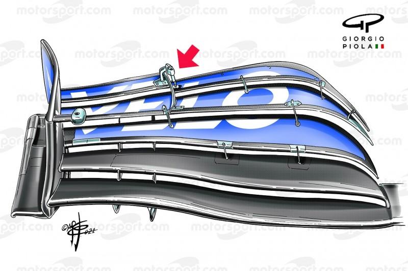 Frontflügel des McLaren-Mercedes MCL35M beim Grand Prix von Italien der Formel 1 2021 in Monza