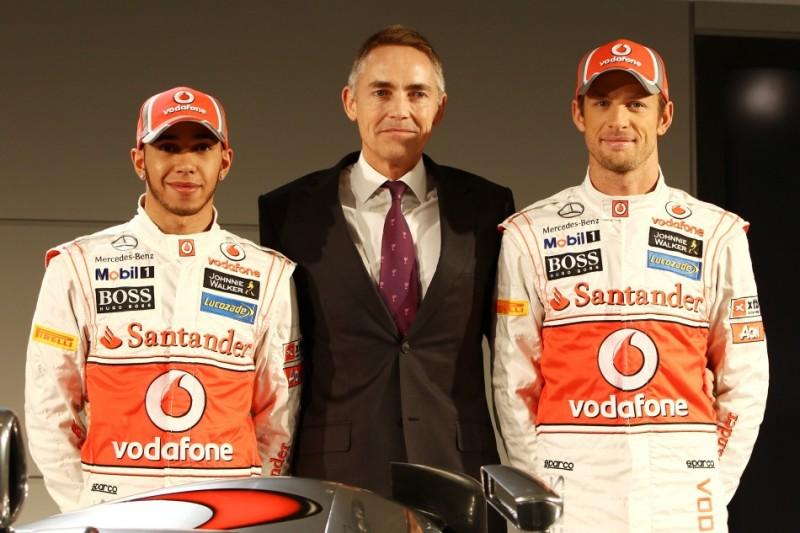 Lewis Hamilton, Martin Whitmarsh, Jenson Button