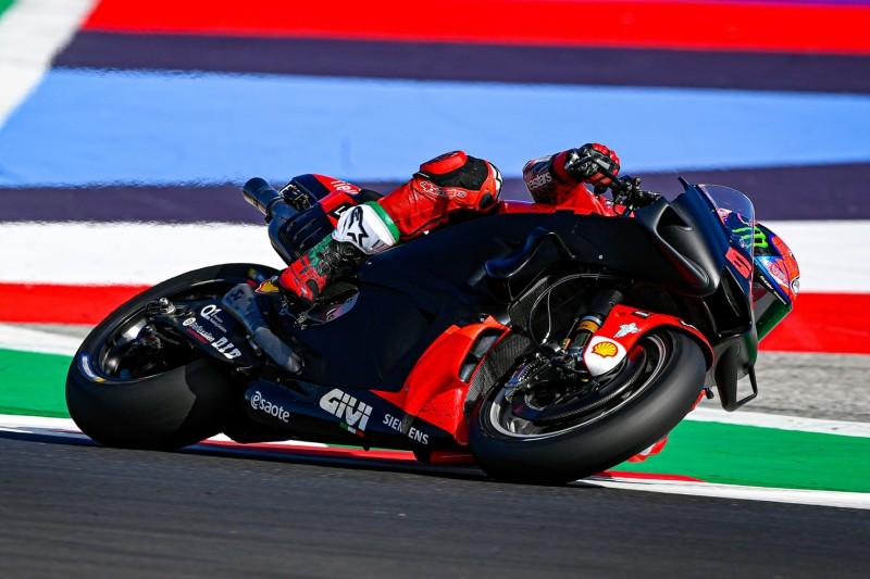 Francesco Bagnaia auf Ducati für 2022 beim Misano-Test im September 2021