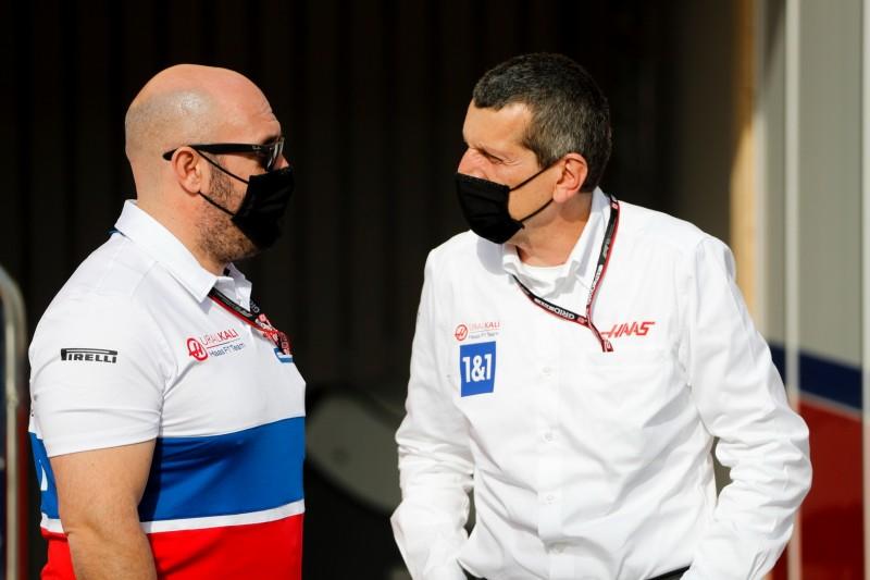 Stuart Morrison mit Haas-Teamchef Günther Steiner