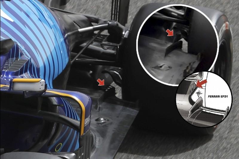 Unterboden-Kanten am Williams FW43B aus der Formel-1-Saison 2021