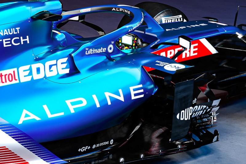 Formel-1-Auto von Alpine für die Saison 2021
