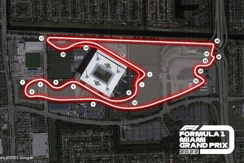 Miami Streckengrafik Rennen