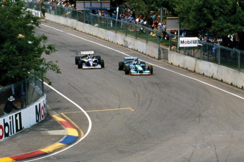 Michael Schumacher und Damon Hill