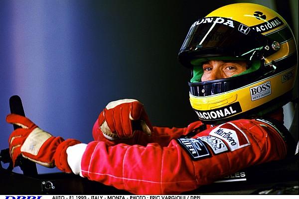 AUTO - F1 1990 - ITALY - MONZA - PHOTO : ERIC VARGIOLU / DPPI AYRTON SENNA (BRA) / MCLAREN HONDA - AMBIANCE - PORTRAIT HELMET BEST OF