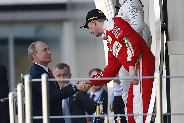 RUSSIAN PRESIDENT VLADIMIR POUTINE RAIKKONEN Kimi (fin) Ferrari SF16_H ambiance portrait podium ambiance during the 2016 Formula One World Championship, Russia Grand Prix from April 28 to May 1 2016 in Sotchi, Russia - Photo Frederic Le Floc'h / DPPI