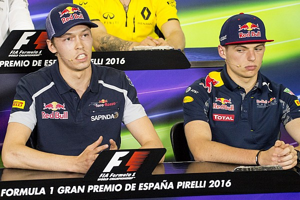 KVYAT Daniil (rus) Toro Rosso Ferrari STR11 ambiance portrait VERSTAPPEN Max (ned) Red Bull Tag Heuer RB12 ambiance portraitduring 2016 Formula 1 FIA world championship, Spain Grand Prix, at Barcelona Catalunya from May 13 to 15 - Photo Vincent Curutchet / DPPI