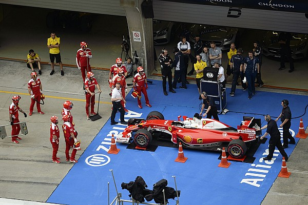 VETTEL Sebastian (ger) Ferrari SF16-H team scuderia Ferrari ambiance - verifications scrutineering during 2016 Formula 1 FIA world championship, China Grand Prix, at Shanghai from April 15 to 17 - Photo Eric Vargiolu / DPPI