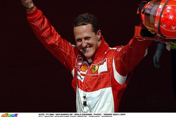 AUTO - F1 2006 - SAN MARINO GP - IMOLA 23/04/2006 - PHOTO : THIERRY BOVY / DPPI N° 5 - MICHAEL SCHUMACHER (GER) / FERRARI - AMBIANCE - PORTRAIT