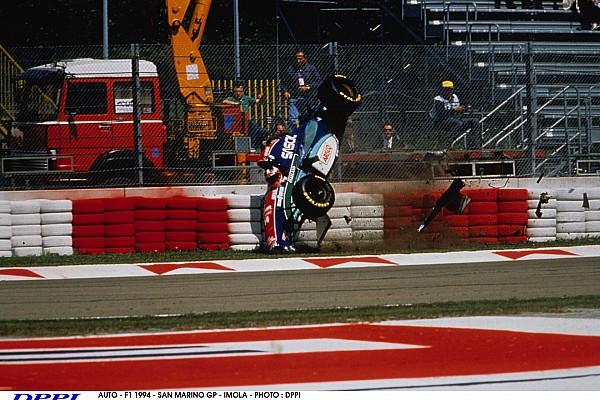 AUTO - F1 1994 - SAN MARINO GP - IMOLA - PHOTO : DPPI RUBENS BARRICHELLO (BRA) / JORDAN HART - ACTION - CRASH