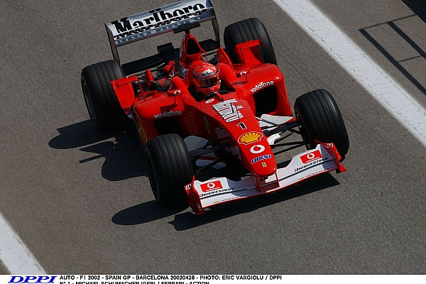 AUTO - F1 2002 - SPAIN GP - BARCELONA 20020428 - PHOTO: ERIC VARGIOLU / DPPI N¡ 1 - MICHAEL SCHUMACHER (GER) / FERRARI - ACTION